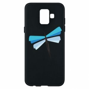 Etui na Samsung A6 2018 Dragonfly abstraction