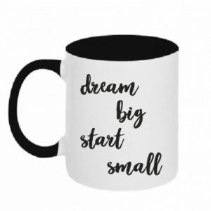 Kubek dwukolorowy Dream big start small