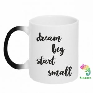 Kubek-kameleon Dream big start small