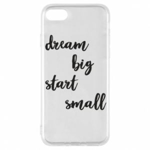 Etui na iPhone 8 Dream big start small