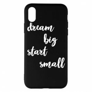 Etui na iPhone X/Xs Dream big start small