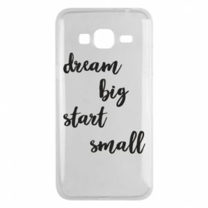 Etui na Samsung J3 2016 Dream big start small