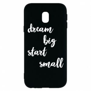 Etui na Samsung J3 2017 Dream big start small