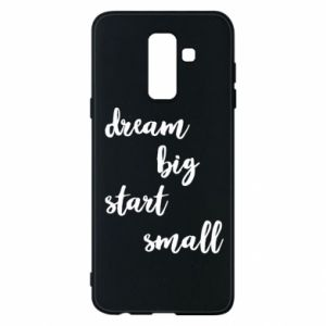 Etui na Samsung A6+ 2018 Dream big start small