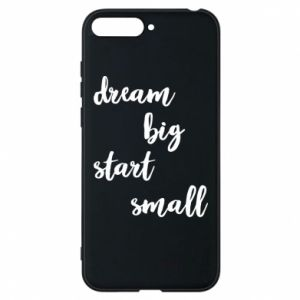 Etui na Huawei Y6 2018 Dream big start small