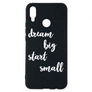 Etui na Huawei P Smart Plus Dream big start small