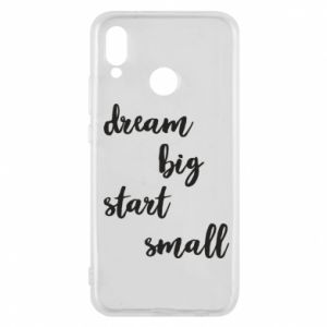 Etui na Huawei P20 Lite Dream big start small