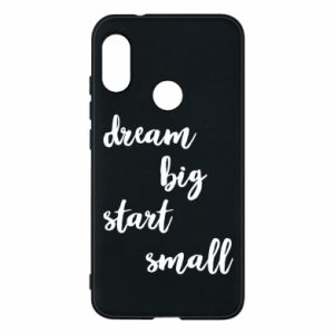 Etui na Mi A2 Lite Dream big start small