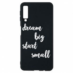 Etui na Samsung A7 2018 Dream big start small