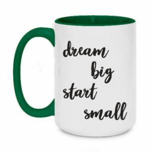 Kubek dwukolorowy 450ml Dream big start small