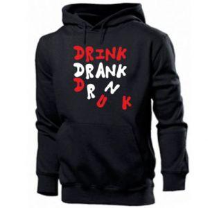 Męska bluza z kapturem Drink. Drank. Drunk