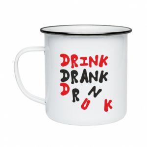 Kubek emaliowane Drink. Drank. Drunk