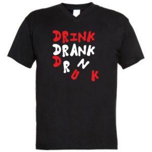 Męska koszulka V-neck Drink. Drank. Drunk