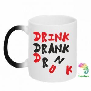 Kubek-kameleon Drink. Drank. Drunk