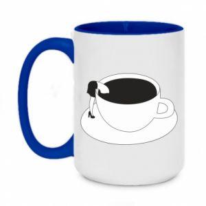 Kubek dwukolorowy 450ml Drown in coffee