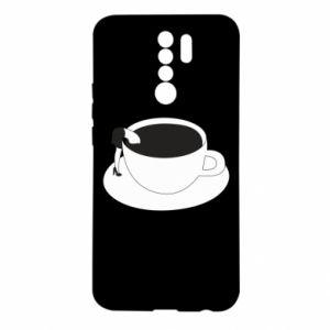 Etui na Xiaomi Redmi 9 Drown in coffee