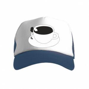 Czapka trucker dziecięca Drown in coffee
