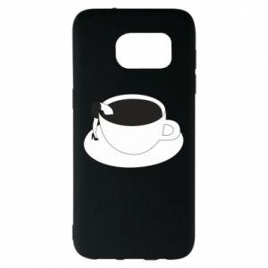 Etui na Samsung S7 EDGE Drown in coffee