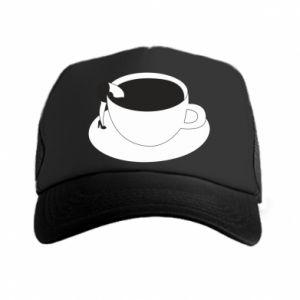 Trucker hat Drown in coffee - PrintSalon
