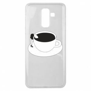 Etui na Samsung J8 2018 Drown in coffee