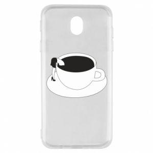 Etui na Samsung J7 2017 Drown in coffee