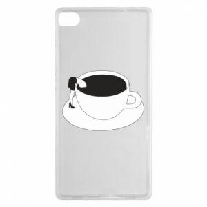 Etui na Huawei P8 Drown in coffee