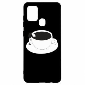 Etui na Samsung A21s Drown in coffee