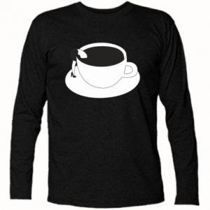 Long Sleeve T-shirt Drown in coffee - PrintSalon