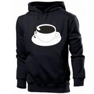 Men's hoodie Drown in coffee - PrintSalon