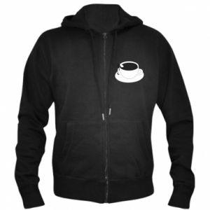 Men's zip up hoodie Drown in coffee - PrintSalon