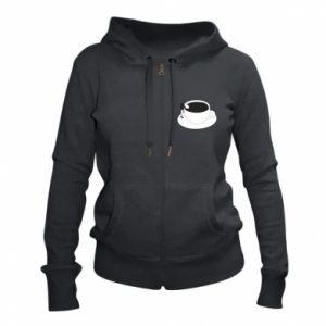 Women's zip up hoodies Drown in coffee - PrintSalon