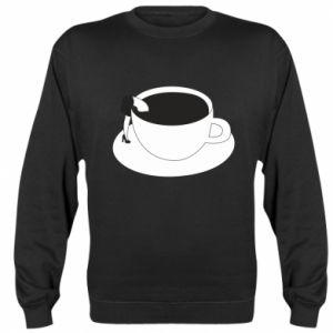 Sweatshirt Drown in coffee - PrintSalon