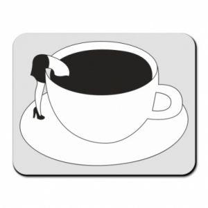 Mouse pad Drown in coffee - PrintSalon