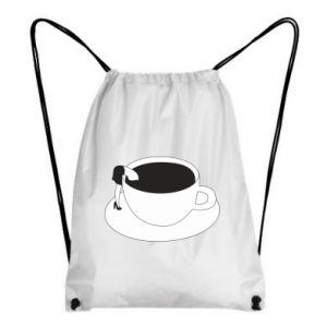 Backpack-bag Drown in coffee - PrintSalon