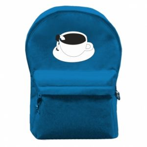 Backpack with front pocket Drown in coffee - PrintSalon