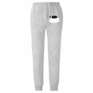 Męskie spodnie lekkie Drown in coffee - PrintSalon