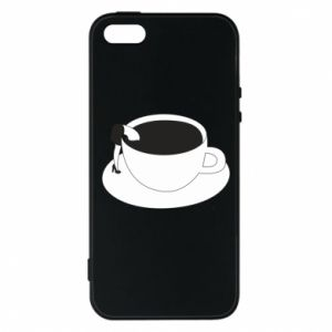 Phone case for iPhone 5/5S/SE Drown in coffee - PrintSalon