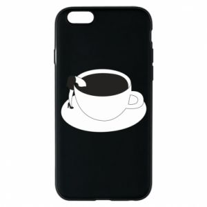 Phone case for iPhone 6/6S Drown in coffee - PrintSalon