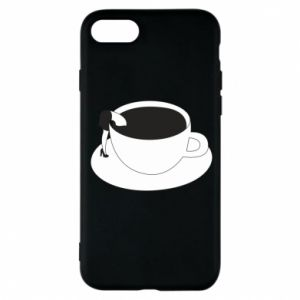 Phone case for iPhone 8 Drown in coffee - PrintSalon