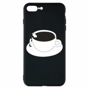 Phone case for iPhone 8 Plus Drown in coffee - PrintSalon