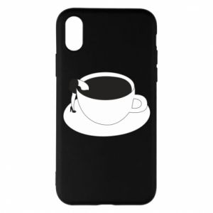 Phone case for iPhone X/Xs Drown in coffee - PrintSalon