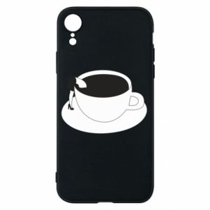 Phone case for iPhone XR Drown in coffee - PrintSalon