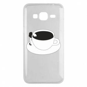 Phone case for Samsung J3 2016 Drown in coffee - PrintSalon