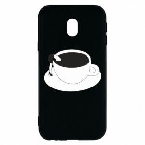 Phone case for Samsung J3 2017 Drown in coffee - PrintSalon