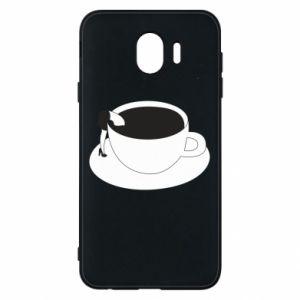 Phone case for Samsung J4 Drown in coffee - PrintSalon