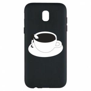 Phone case for Samsung J5 2017 Drown in coffee - PrintSalon
