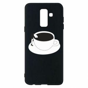 Phone case for Samsung A6+ 2018 Drown in coffee - PrintSalon