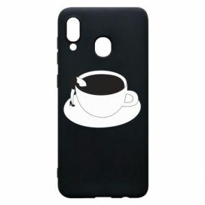 Phone case for Samsung A20 Drown in coffee - PrintSalon