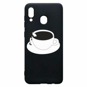 Phone case for Samsung A30 Drown in coffee - PrintSalon