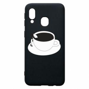 Phone case for Samsung A40 Drown in coffee - PrintSalon